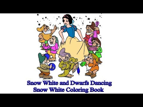 Snow White and Dwarfs Dancing | Snow White Coloring Book