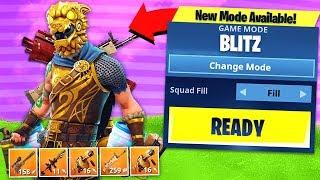 *NEW* BLITZ GAMEMODE UPDATE! Fortnite: Battle Royale Gameplay