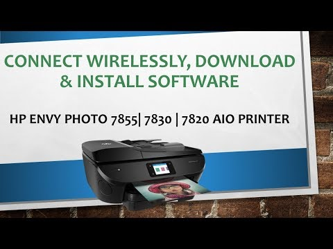 HP Envy Photo 7855 | 7155 | 6255 Connect Printer Wirelessly Download & Install Software
