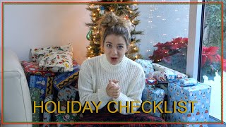 HOLIDAY CHECKLIST | Claire Margaret Corlett