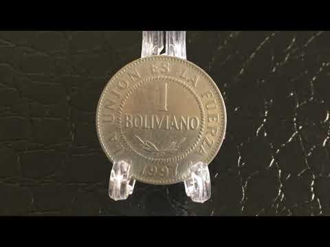 Coin Bolivia 1 Boliviano 1997