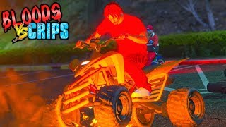 "BLOODS VS CRIPS ""BIKE LIFE"" GANG WAR (GTA5 SKIT)"