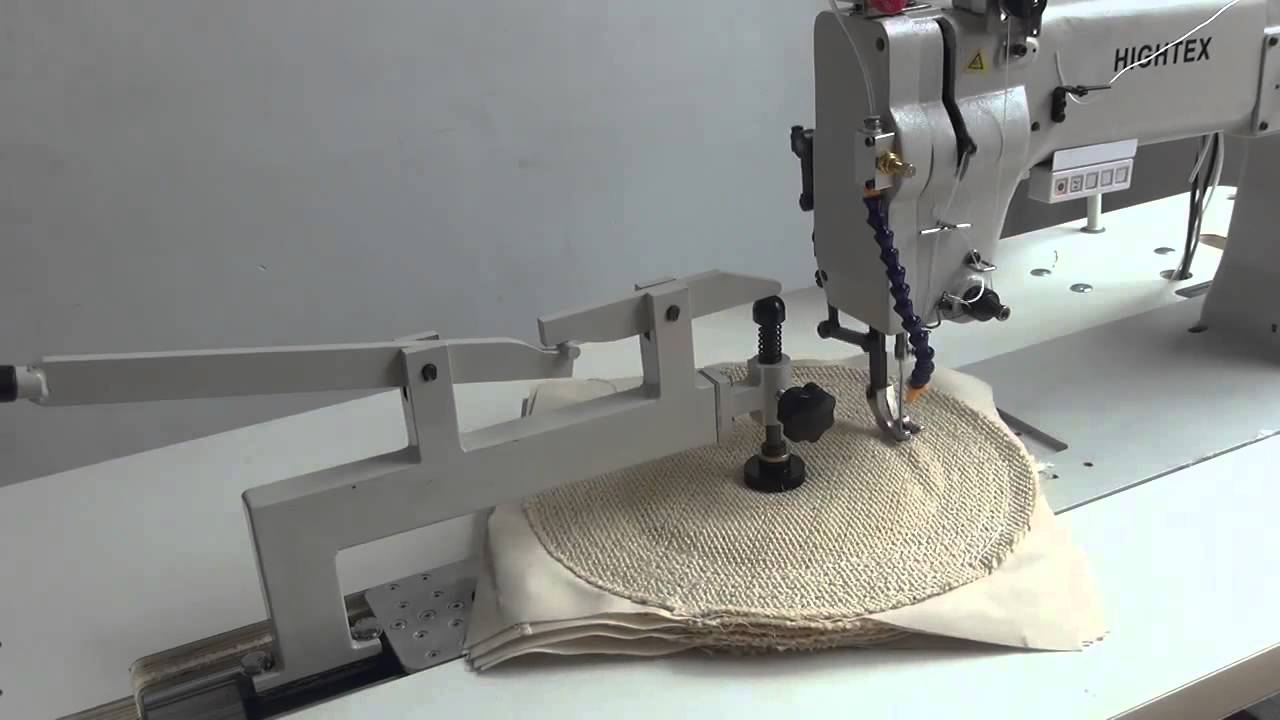 MÁQUINA DE COSER DOBLE ARRASTRE HIGHTEX 7373ECO - YouTube