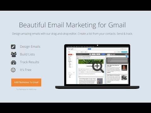 Thiết kế email quảng cáo đẹp mắt trong Gmail với Flashissue
