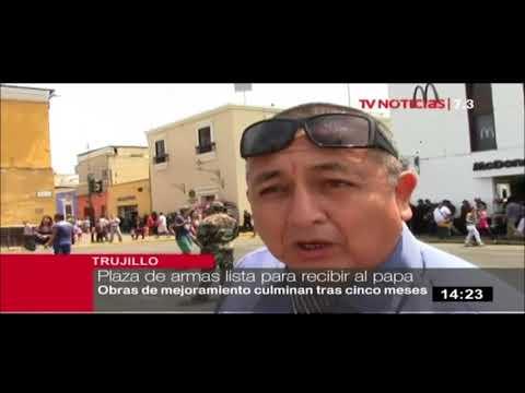 El papa en el Perú: Trujillo cuenta con la primera Plaza de Armas del país con iluminación LED