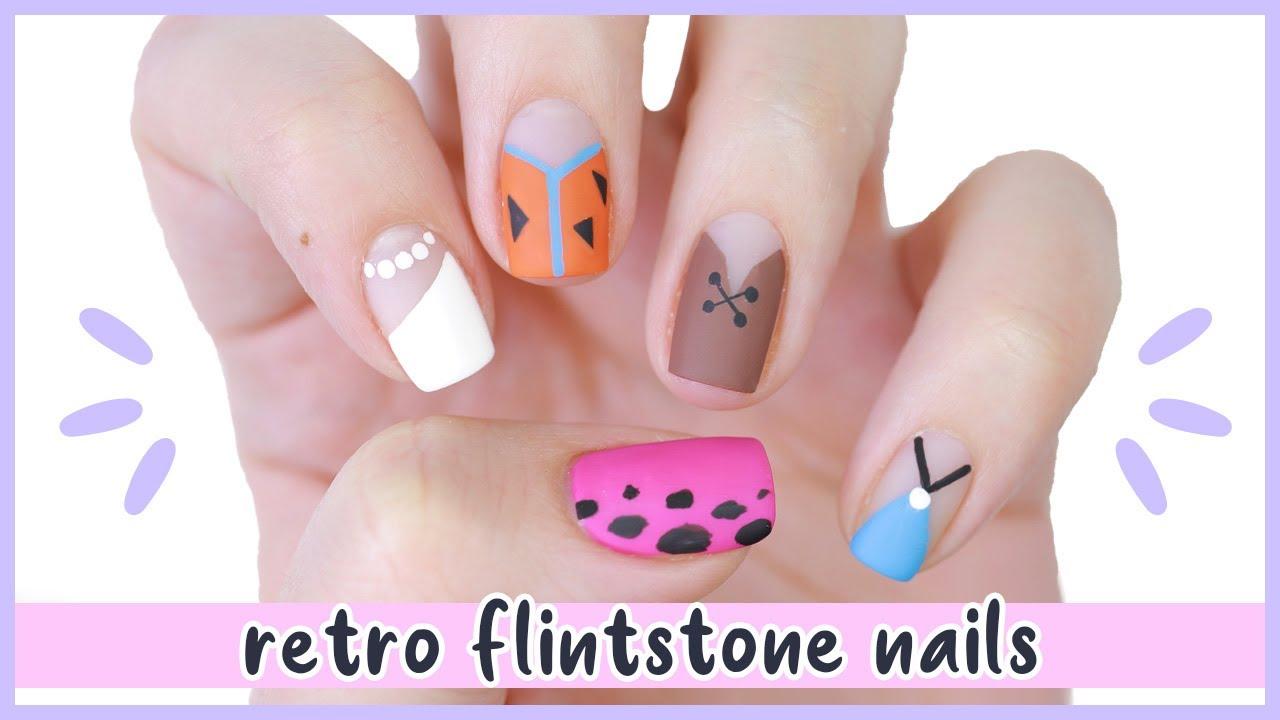 New Nail Art 2020 ♡ Retro Flintstone Nail Design!