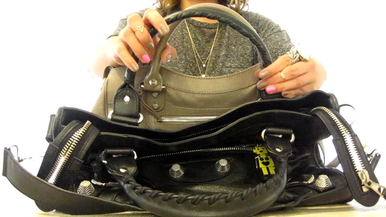 88653a57ab7 Balenciaga Bag Comparison between City and Velo - YouTube