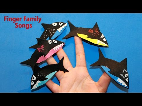 Shark Finger Family Song Karaoke Nursery Rhymes Lyrics
