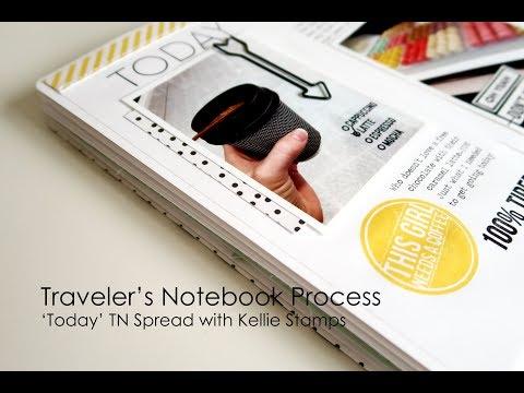 Traveler S Notebook Process Video Hello Gorgeous Fashionista Memory Lane Collaboration