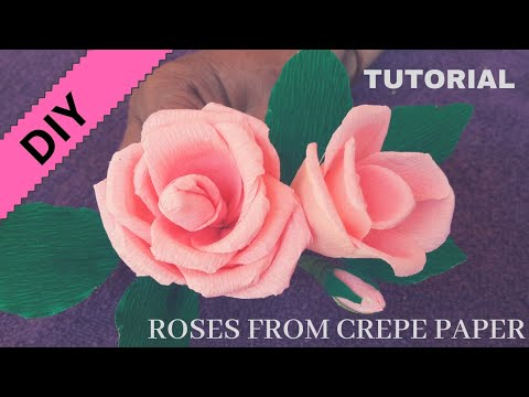 Simple DIY Roses Made With Crepe Paper   Easy Diy Tutorial   Craft India