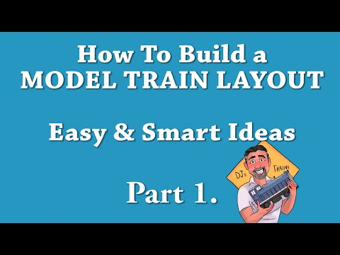 How To Build a MODEL TRAIN LAYOUT.  Easy and Smart Ideas