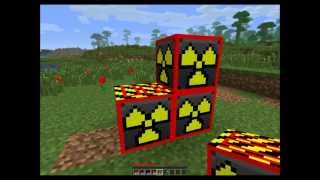 Minecraft Mega nuke, blowing up minecraft blocks with Explosives+