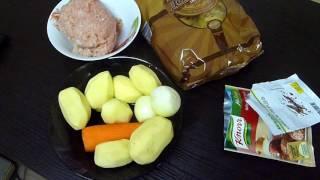 """Салат """"Оливье"""" (Вкусный Домашний Рецепт)+Суп с лапшой."""