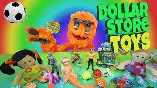 $1 Toys for Kids - Dollar Store Video Review u0026 Budget Bargain Toys // Fuzzy Puppet