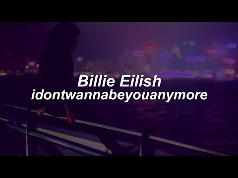 idontwannabeyouanymore // Billie Eilish(Lyrics)