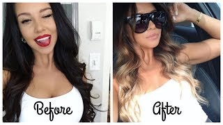 BRUNETTE goes BLONDE ! (ombre balayage)
