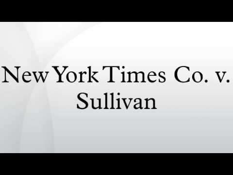 New York Times Co. v. Sullivan - YouTube