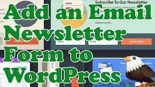 Add an EMAIL NEWSLETTER sign up FORM to WordPress