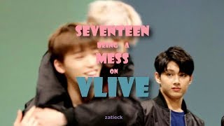 SEVENTEEN being a mess on V live #2