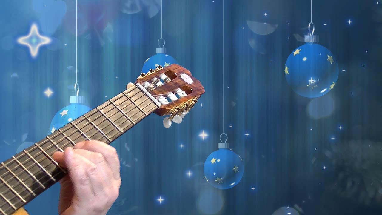 Cicha Noc Silent Night Guitar And Piano Wiersz świąteczny Janusz Strugała