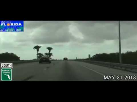 Orlando FL to Hometead FL Florida Turnpike Time Lapse Drive