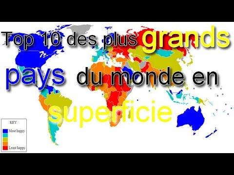 Top 10 Des Plus Grands Pays Du Monde En Superficie Youtube