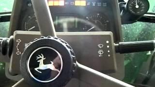 Odpalanie John Deere 6230- Zima 2012 (Engine start- Winter 2012) [HD]