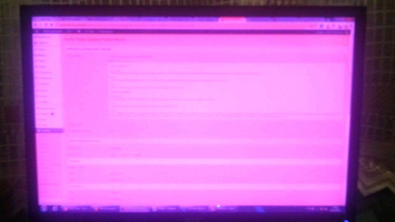 Purple Screen Monitor : Pink flashing screen of death youtube