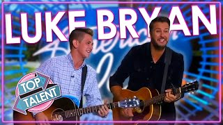 BEST And FUNNIEST Luke Bryan Moments On American Idol! | Top Talent