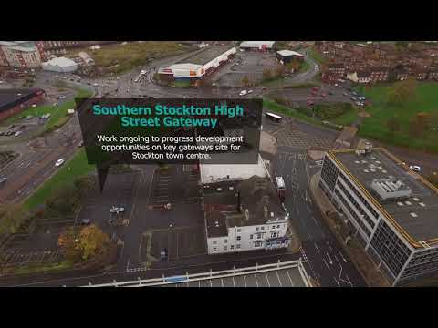 Stockton from the air