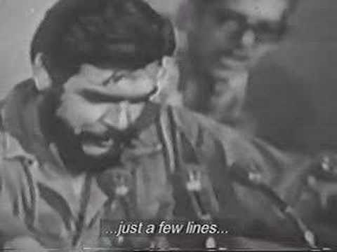 Che Guevara Recites a poem.