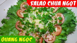 Cách làm xà lách (Salad) trộn giấm chua ngọt đơn giản ngon cơm | Món Ngon Quang Ngọc