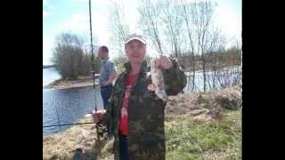г Северодвинск 2015 на рыбалка на реке Лая открытие сезона..