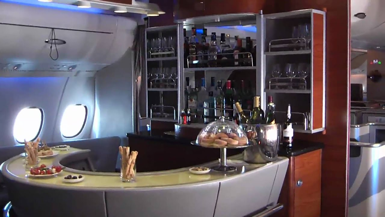 On Board Emirates Airbus A380 In Flight Youtube