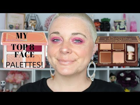 MY TOP 8 FACE PALETTES   Nicole Chantell thumbnail