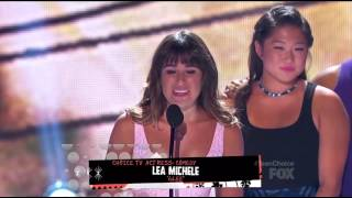 Glee Cast winning with Lea Michele's Acceptance Speech (2013 TCA's) (HD)