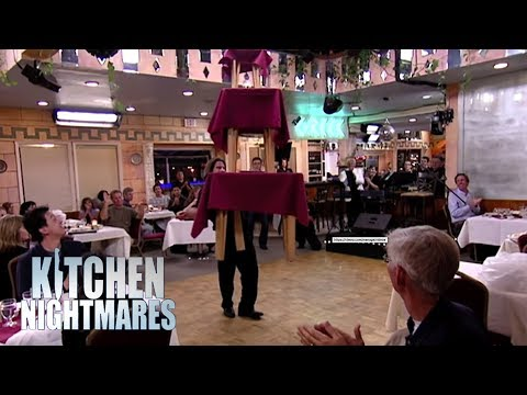 Things Get Weird As Waiter DANCES WITH A TABLE | Kitchen Nightmares