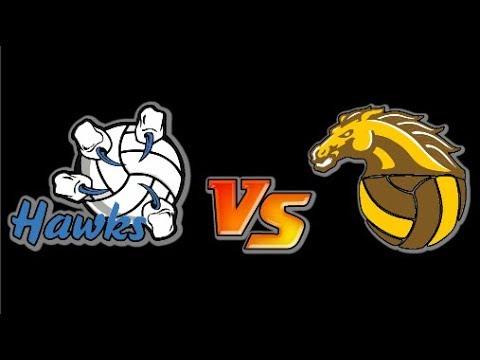 Hawks vs Colts in Senior Girls Volleyball High School City Championships