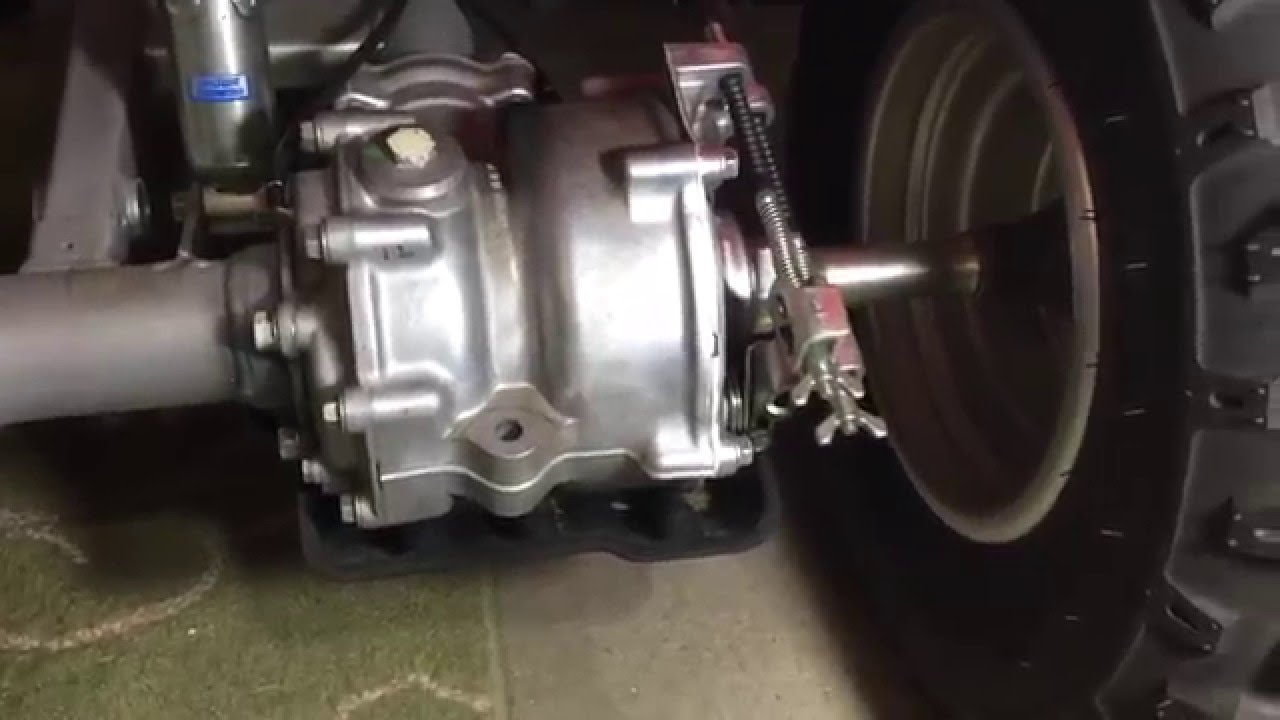 how to check the rear brakes on a honda 250x using wear indicator [ 1280 x 720 Pixel ]