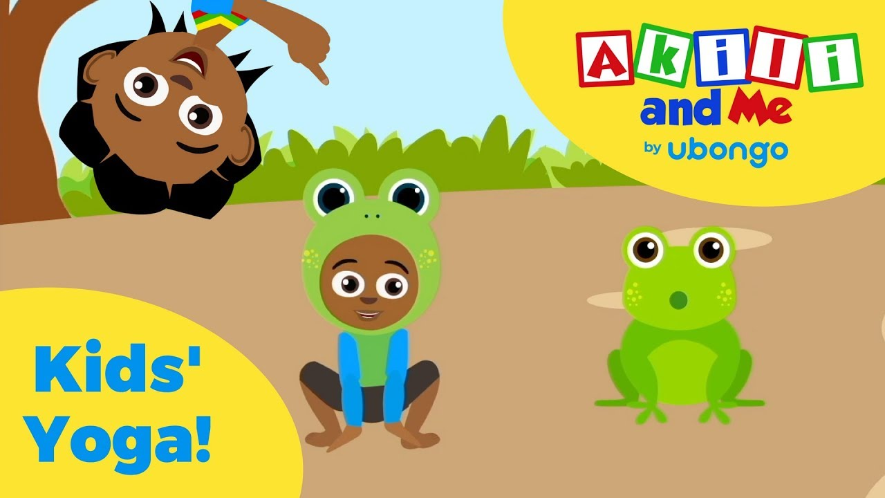 Fun Yoga for Kids with Akili and Me!   African Cartoons for Happy, Healthy Kids!