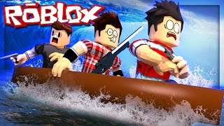 Roblox Adventure - BUILD A BOAT TO SURVIVE THE FLOOD! (Roblox Whatever Floats Your Boat)