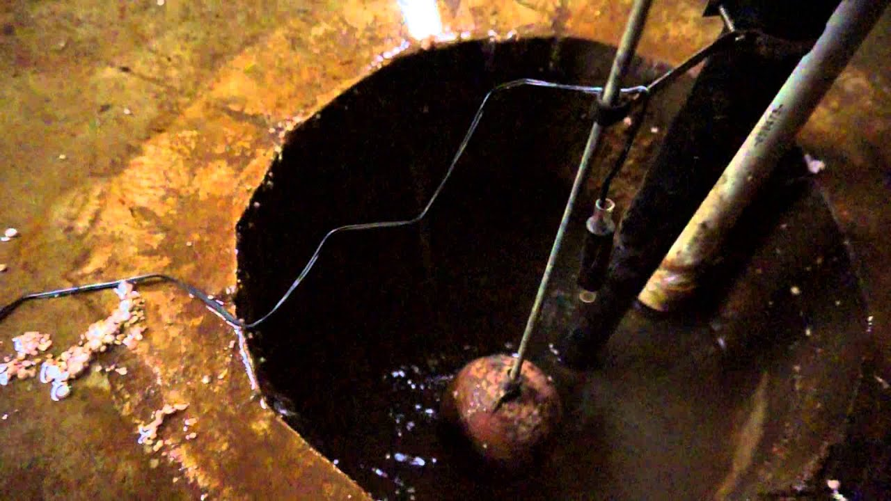 Basement Below Water Table, Water Spraying Into Sump Pit