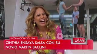 Cinthia Fernández ensaya salsa de a tres con su novio Martín Baclini