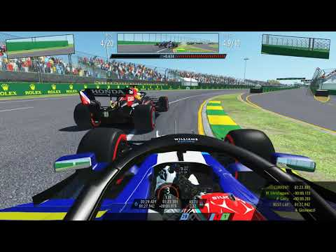 rFactor2 : F1 2021 Williams . George Russell . Melbourne Circuit |