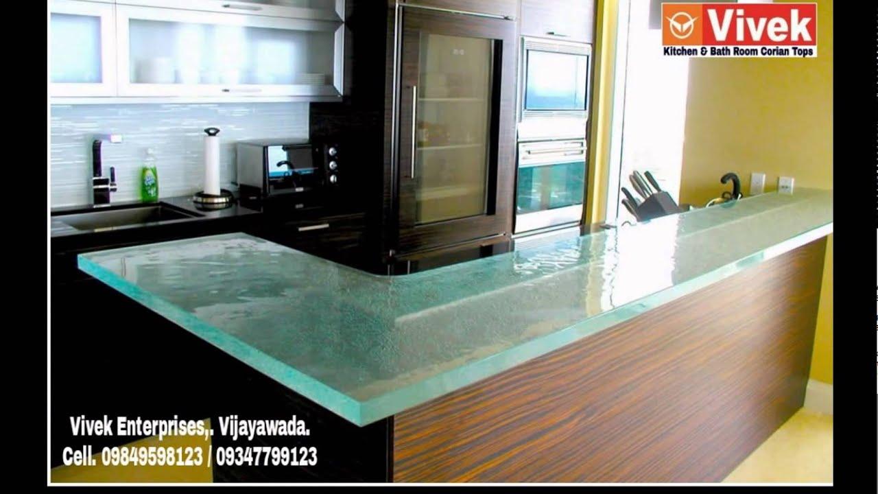 Corian Tops For Kitchens And Bathrooms In Vijayawada,  Bhimavaram,Guntur,Rajahmundry,Eluru,Kakinada