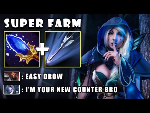 [Drow Ranger] 11Min First Item Aghanims Scepter To Farm & 2x