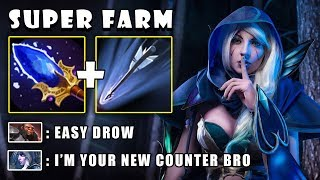 [Drow Ranger] 11Min First Item Aghanims Scepter To Farm \u0026 2xULTRAKILL by Arms FullGame Dota 2 7.21c