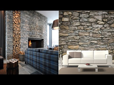 Living Room Stone Wall Decorating Designs 2020 Stone Accent Wall For Living Room Youtube