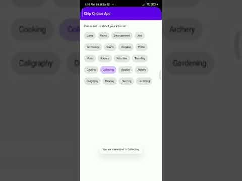 [Output] Tutorial Cara Menggunakan Chip Choice Material Design di Android Studio