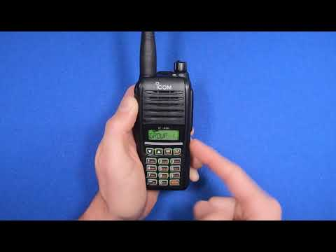 How To Group Frequencies On The Icom A16B Aviation Radio